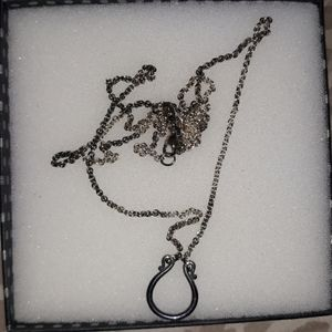 J.A changeable charm holder necklace